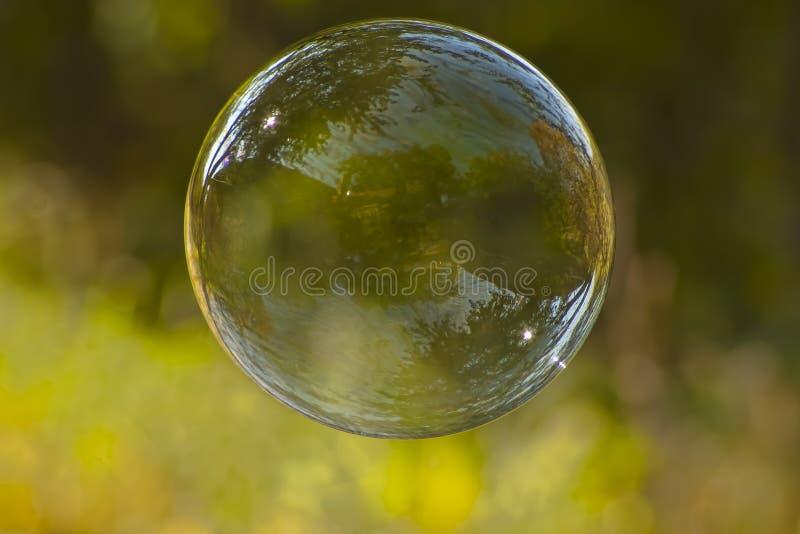 Enige zeepbel royalty-vrije stock foto