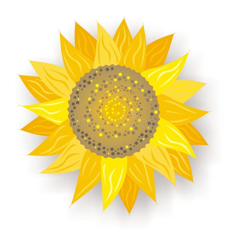 Enige zonnebloem stock illustratie