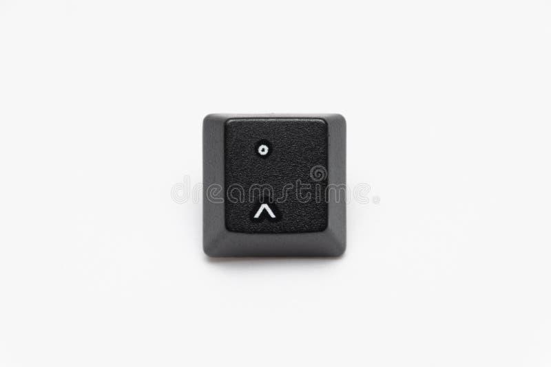 Enige zwarte sleutels van toetsenbord met verschillende brievencircumflex stock afbeelding