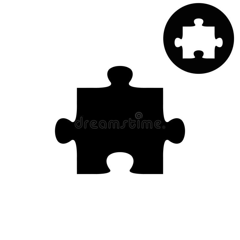 Enigma - ícone branco do vetor ilustração stock