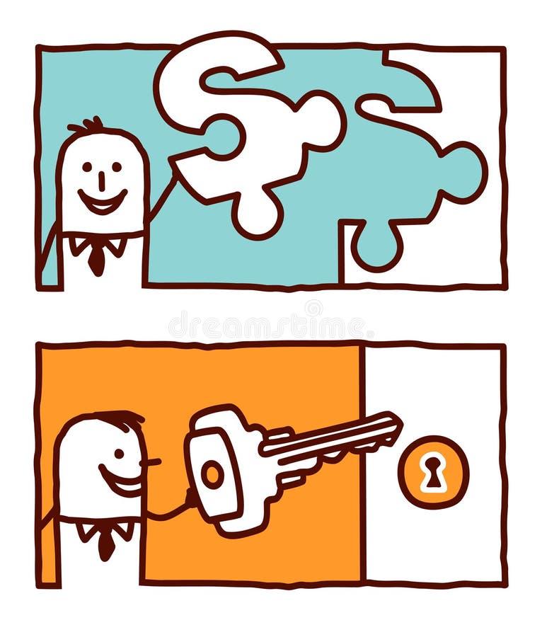 Enigma & chave ilustração do vetor