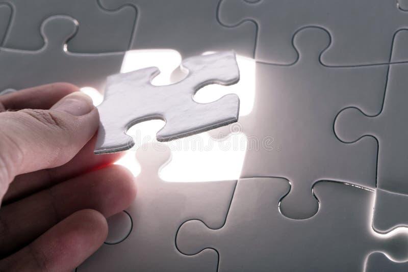 Enigma branco imagens de stock royalty free
