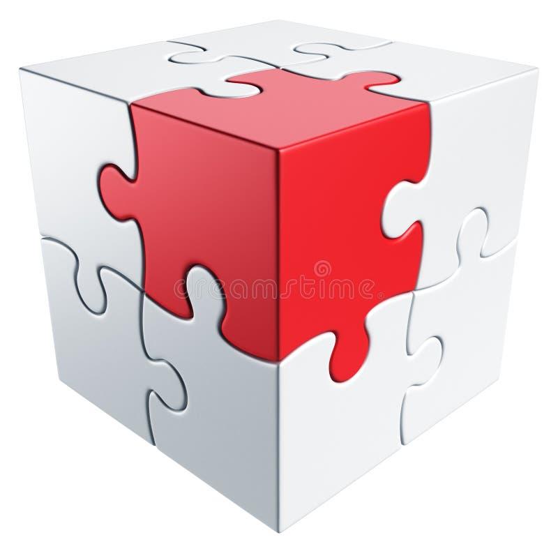 Enigma cúbico ilustração stock