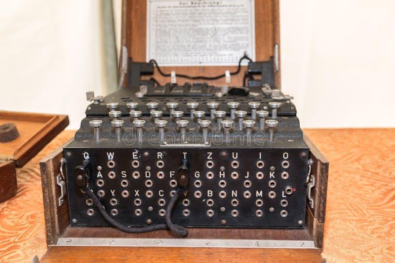 Enigma Cipher maszyna od drugiej wojny światowa zdjęcia royalty free