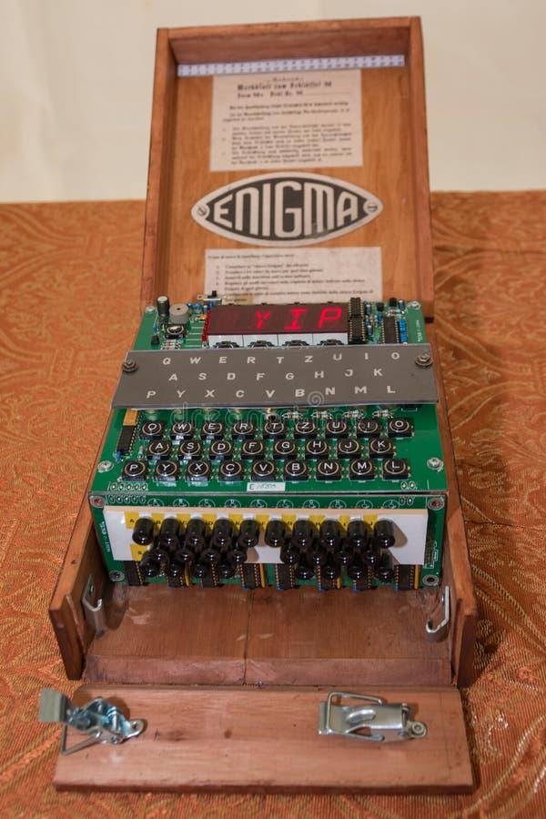 Enigma Cipher maszyna od drugiej wojny światowa obrazy stock