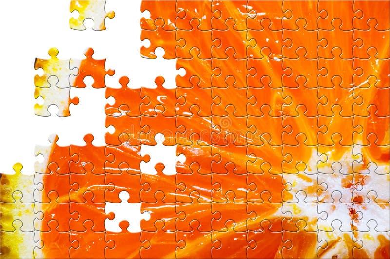 Enigma com partes faltantes ilustração do vetor