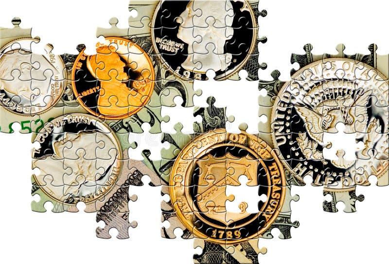 Enigma com partes faltantes ilustração royalty free