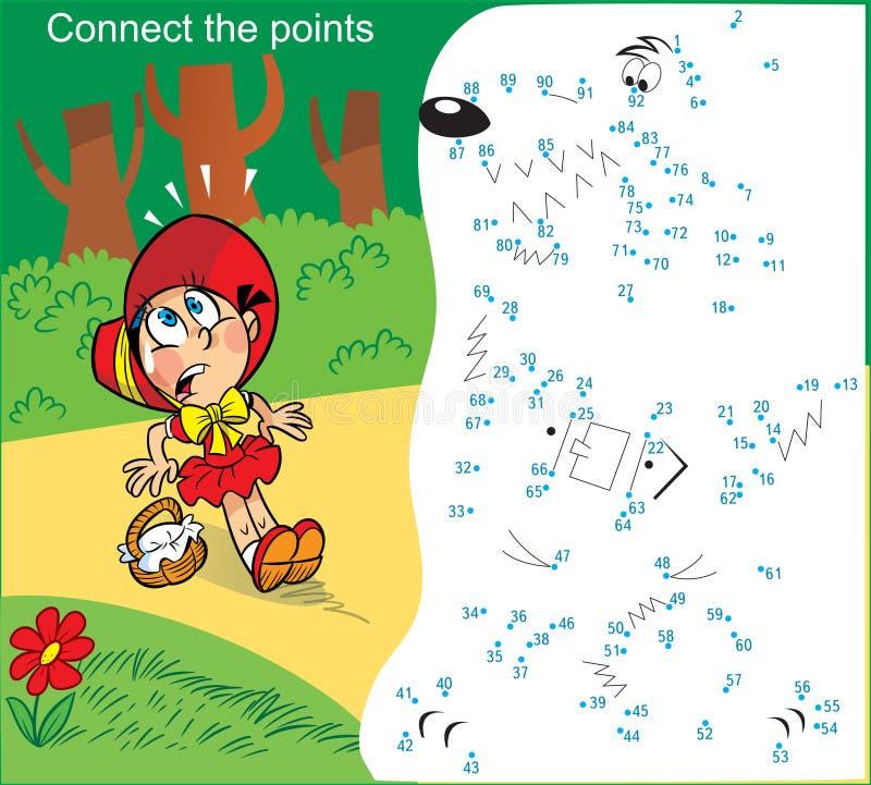 enigma com uma menina que atravesse as frentes ilustração royalty free