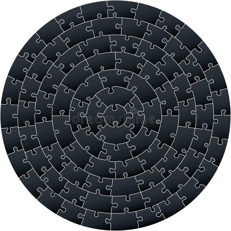 Enigma complexo circular ilustração royalty free