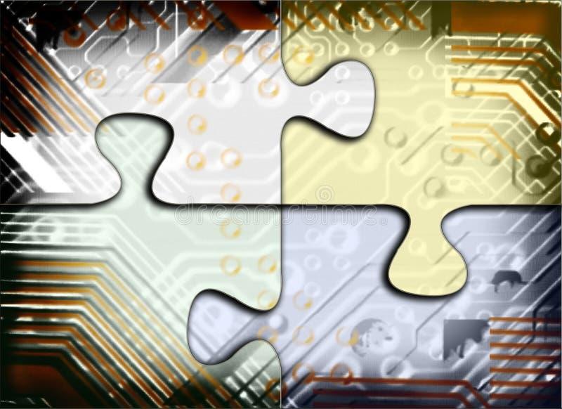 Enigma da tecnologia ilustração do vetor