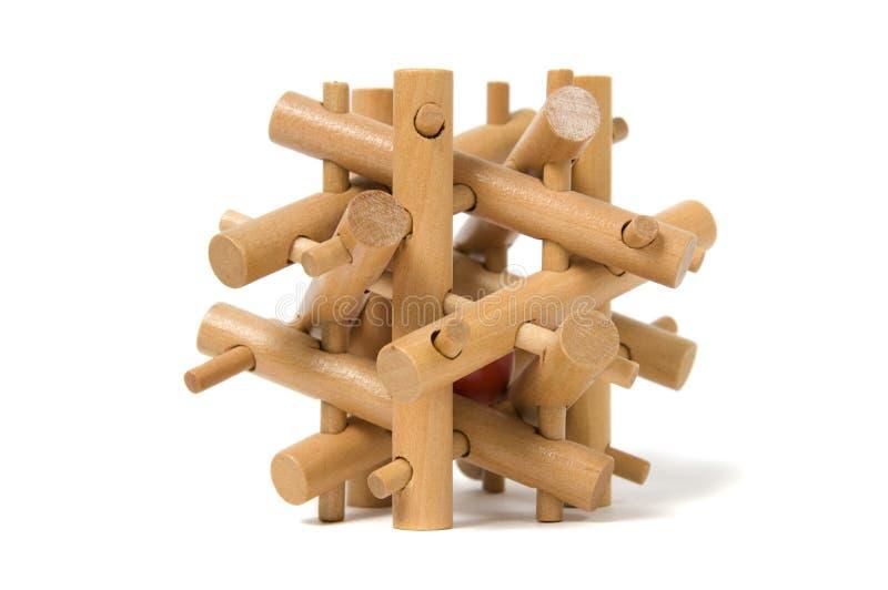 Download Enigma de madeira foto de stock. Imagem de lazer, bloco - 16864470