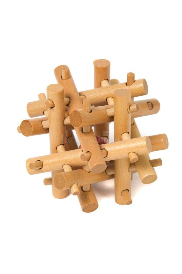 Enigma de madeira fotos de stock