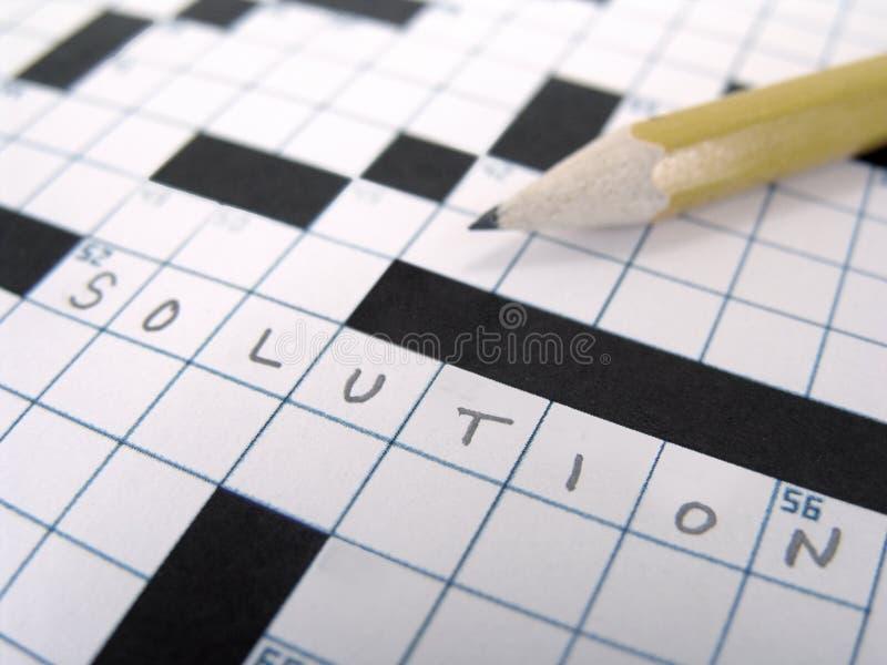 Enigma de palavras cruzadas foto de stock