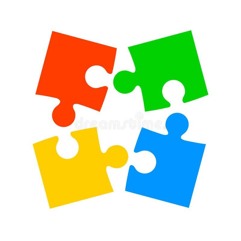 Enigma de quatro cores - para o estoque ilustração stock