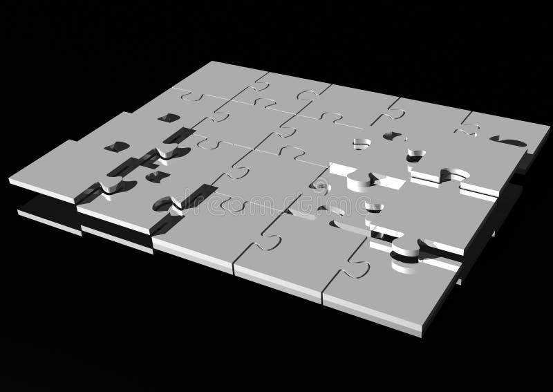 Enigma de serra de vaivém ilustração stock