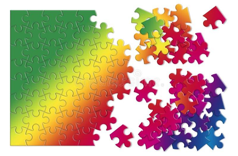 Enigma de serra de vaivém colorido - imagem do conceito no fundo branco ilustração stock