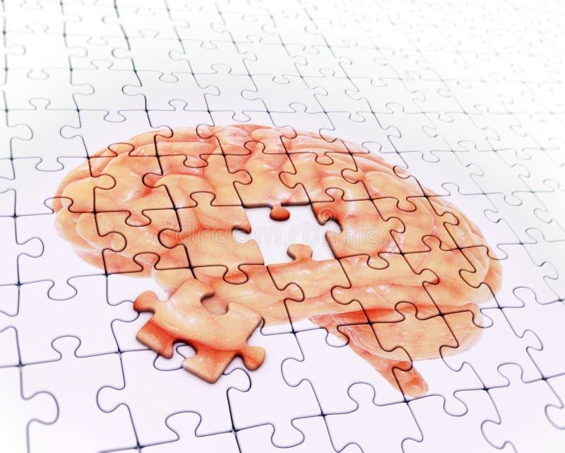 Enigma de serra de vaivém do cérebro fotografia de stock
