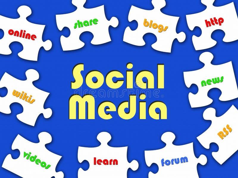 Enigma de serra de vaivém social dos media ilustração royalty free