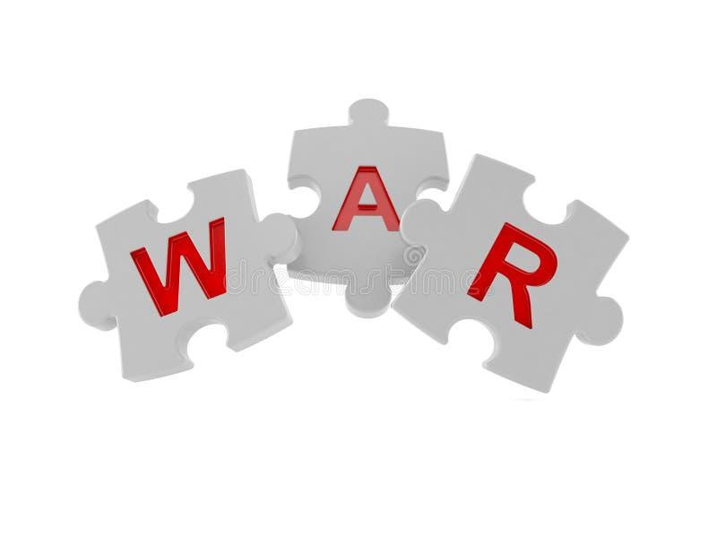 Enigma de serra de vaivém da guerra ilustração stock