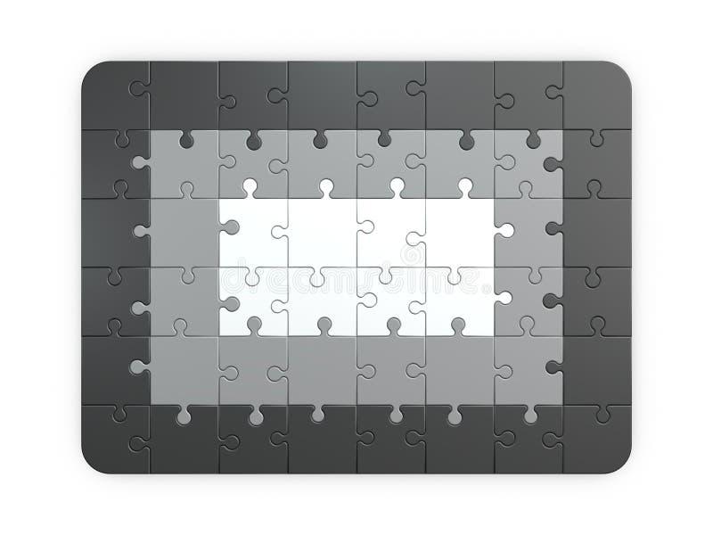 Enigma de serra de vaivém Isolado no fundo branco illust da rendição 3D ilustração stock