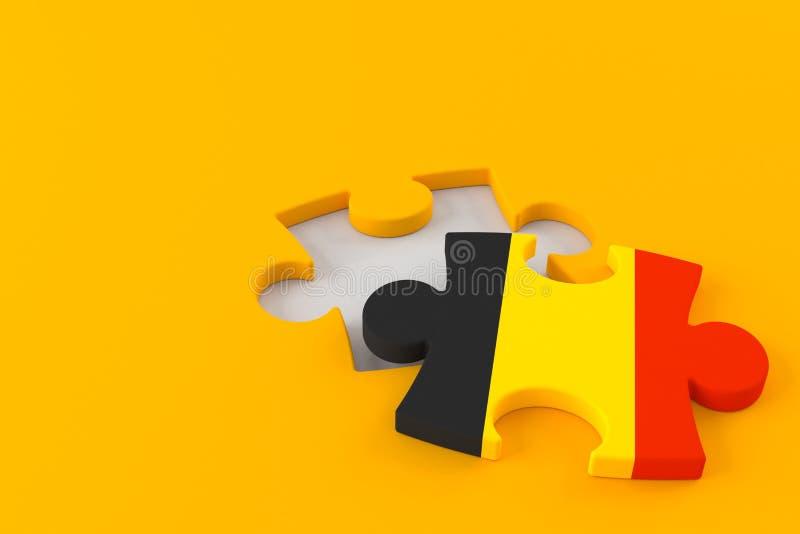 Enigma de serra de vaiv?m com bandeira belga ilustração do vetor