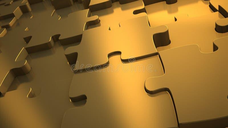enigma deslocado material satinated do ouro ilustração stock