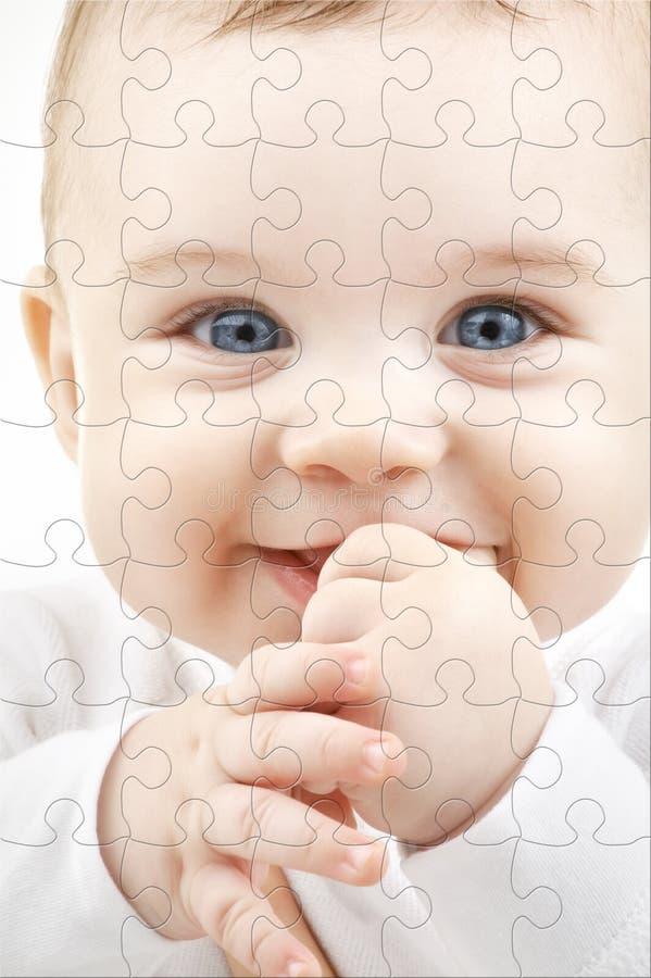Enigma do bebê fotografia de stock