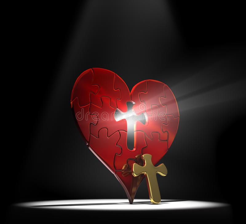 Enigma do coração ilustração do vetor