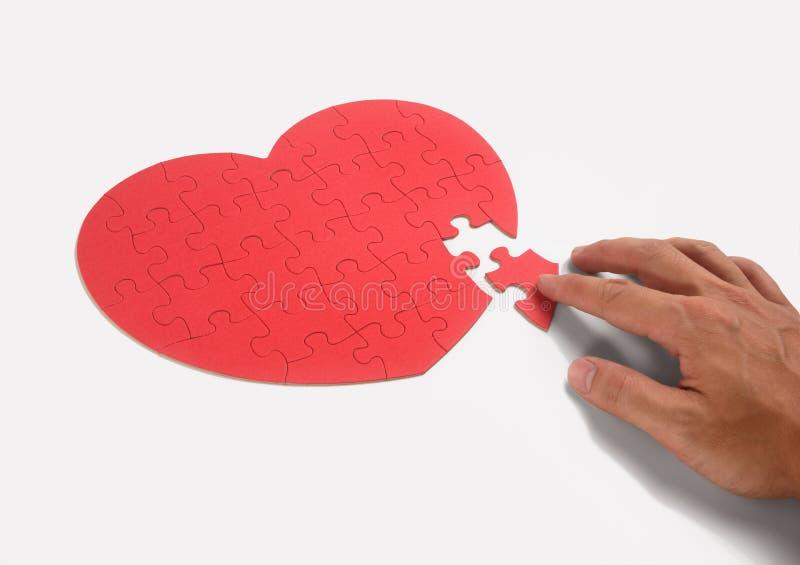 Enigma do coração imagem de stock