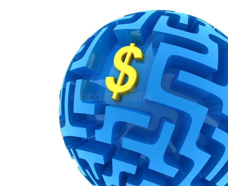 Enigma do dólar ilustração stock