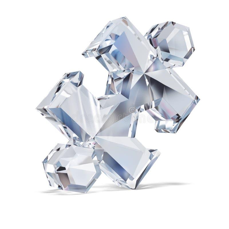 Enigma do diamante ilustração stock