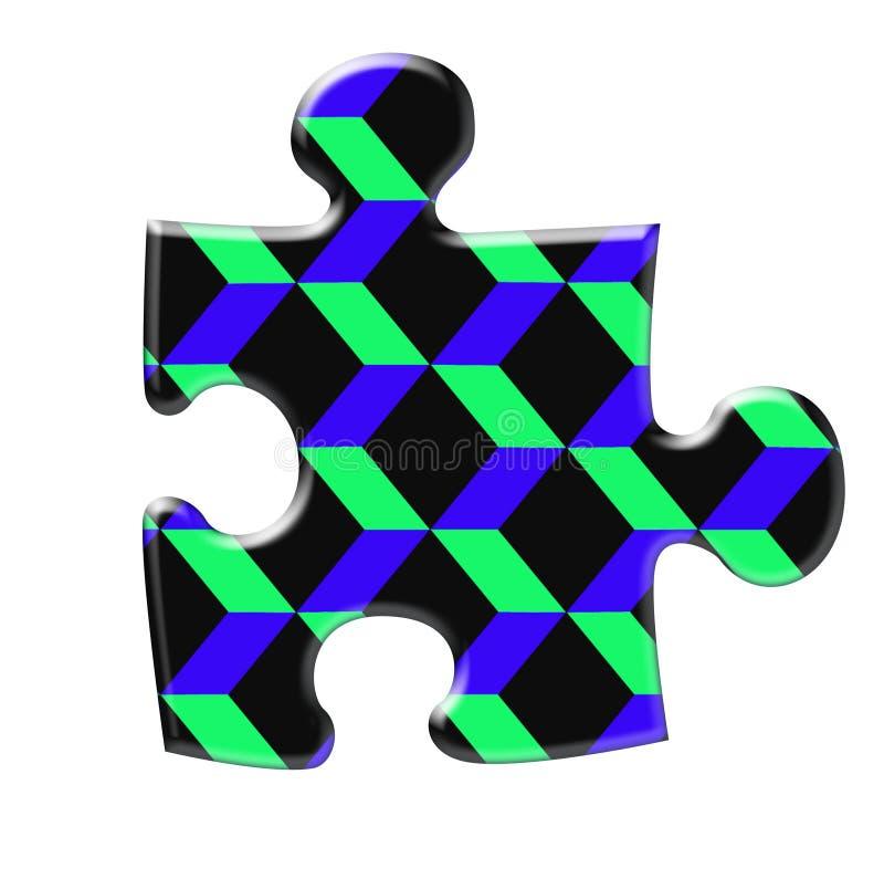 Enigma do diamensional três ilustração stock