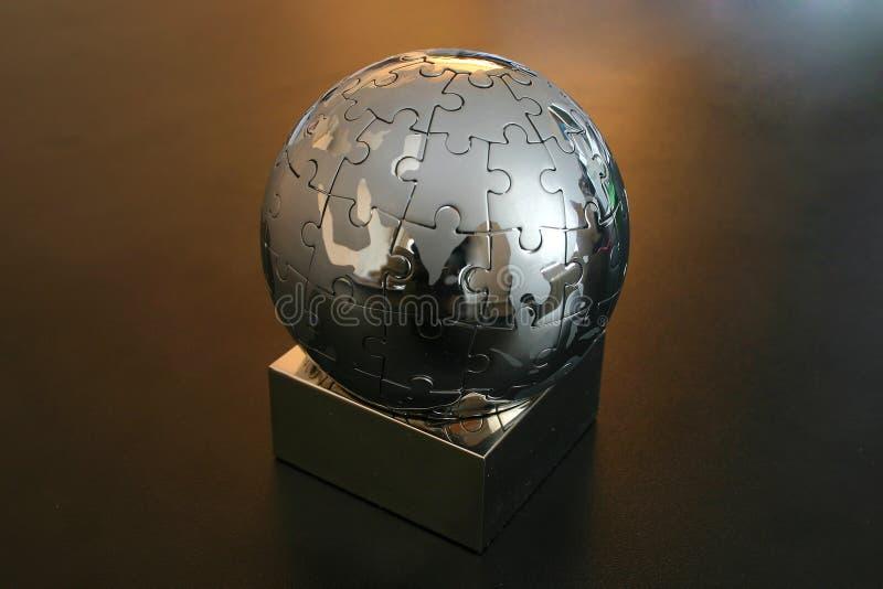Enigma do globo do ferro fotos de stock royalty free