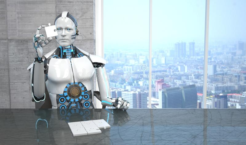 Enigma do robô ilustração royalty free
