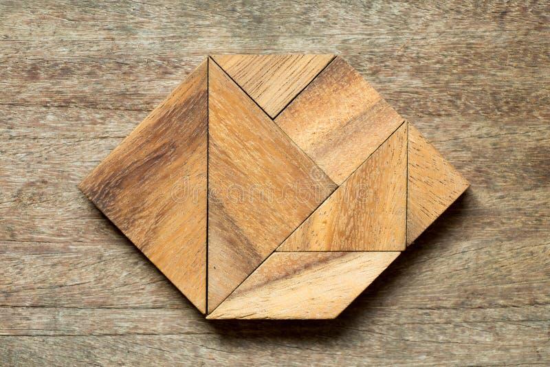 Enigma do Tangram na forma do hexágono fotografia de stock royalty free