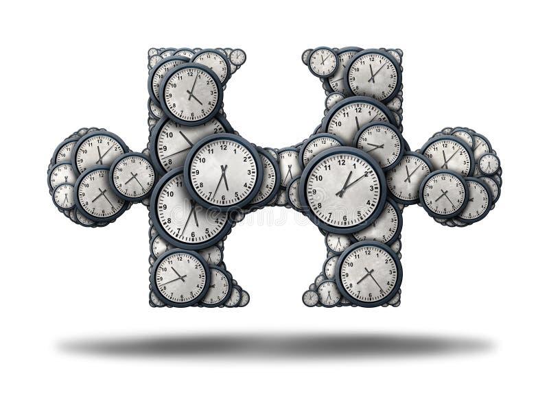 Enigma do tempo ilustração stock
