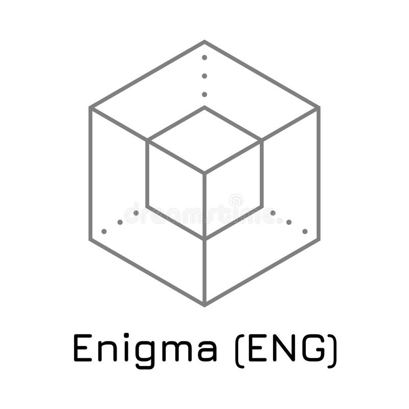 Enigma ENG. Vector illustration crypto coin ico stock illustration
