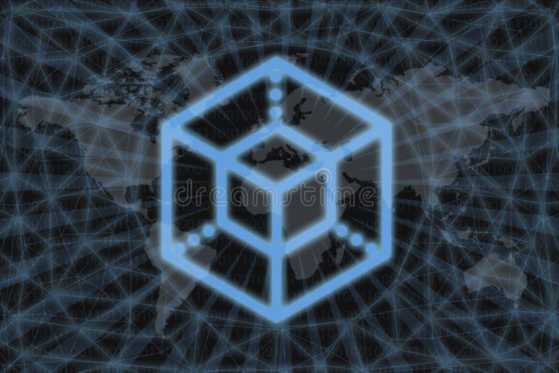 Enigma ENG Z ciemnym tłem i mapą świata Koncepcja graficzna dla projektu ilustracja wektor