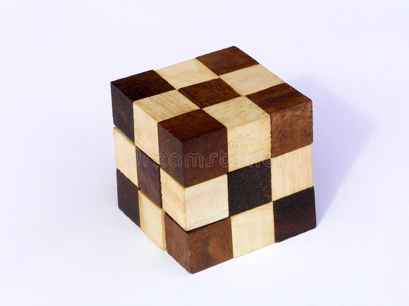 Enigma - enigma de madeira imagem de stock