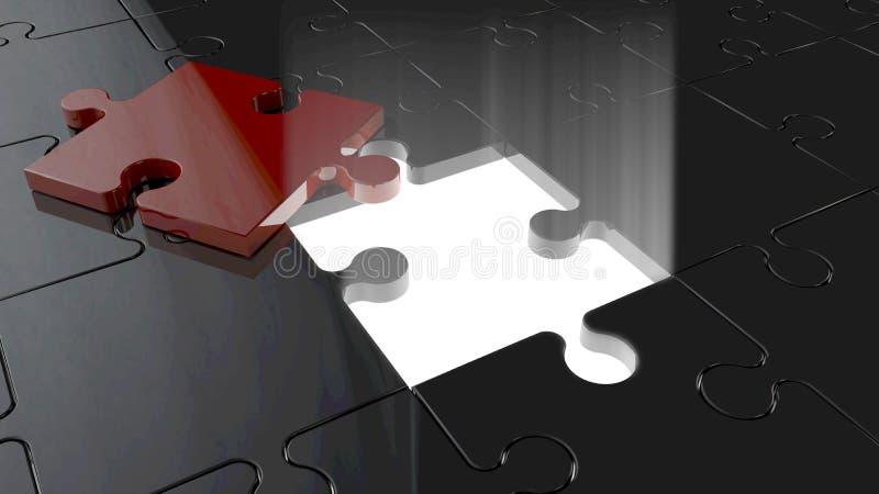 Enigma escavado ilustração stock