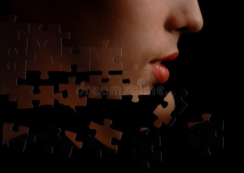 Enigma-face imagens de stock