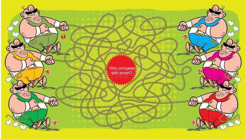 Enigma que compete com quem ilustração stock