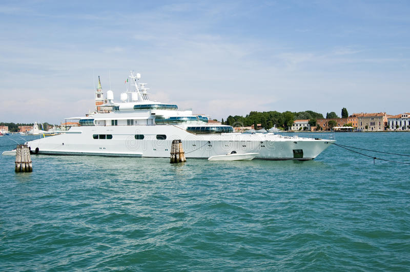 Enigma super yacht in Venice stock photos