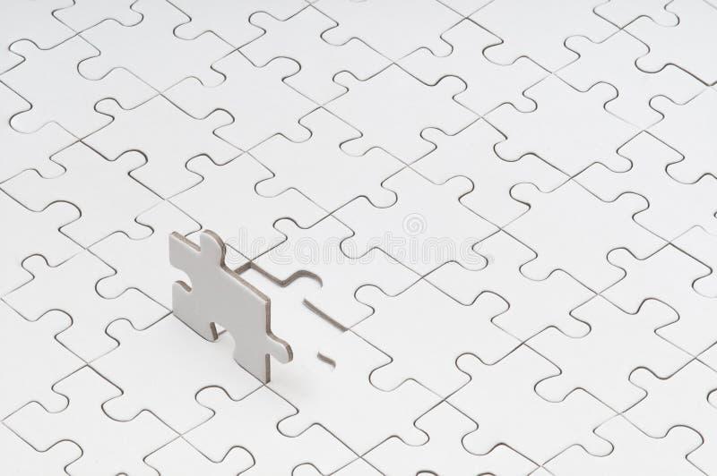 Enigma vazio com parte faltante foto de stock