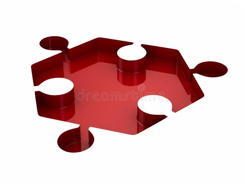 Enigma vermelho no fundo branco Ilustração 3d isolada ilustração royalty free