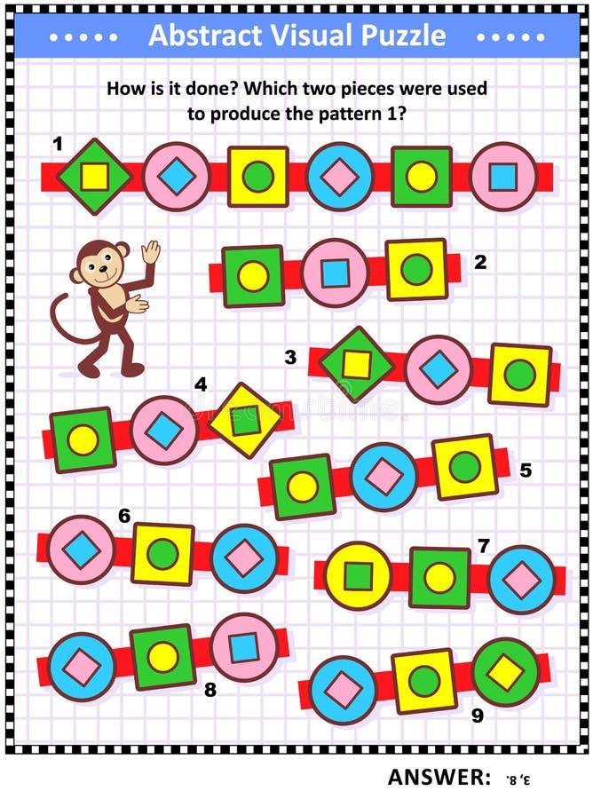 Enigma visual abstrato - como é feito? ilustração royalty free
