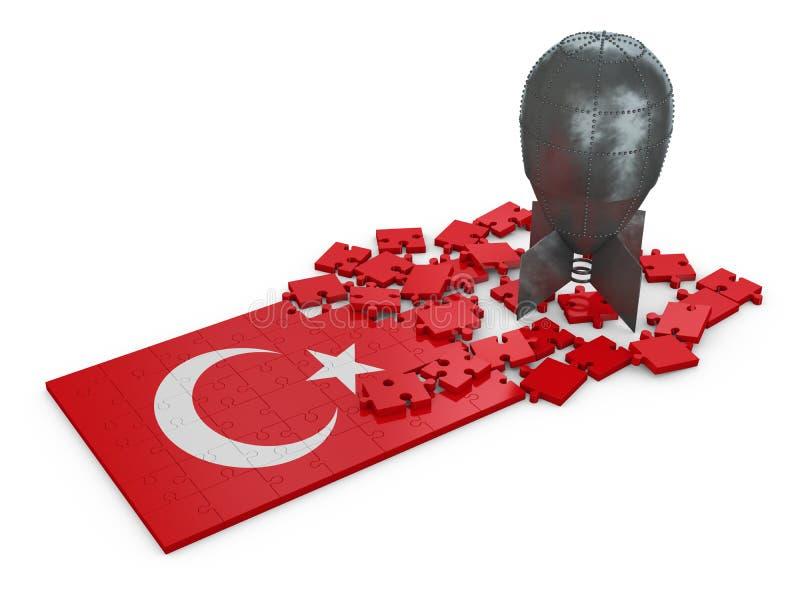 Enigmas de Turquia ilustração stock