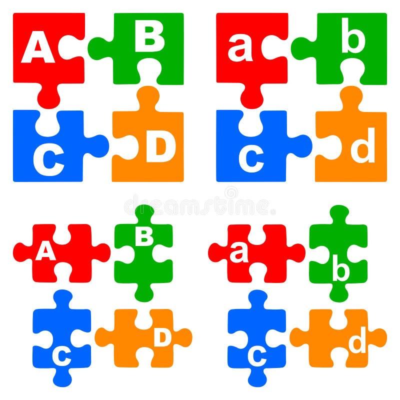 Enigmas do alfabeto ilustração stock