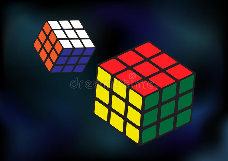 Enigmas do cubo ilustração do vetor