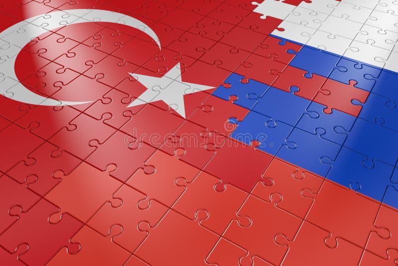 Enigmas Turquia e Rússia ilustração stock